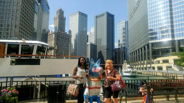 Judith Nelly Mukarwema with mentor, Angelika Coghlan, in Chicago