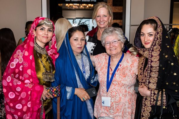 Mohsina Saqeb, Dr. Sharifa Hesarnaee, Dr. Susan Chambers, Margaret Ford and Saieda Ahmadi during 2018 Leadership Development Graduation Gala