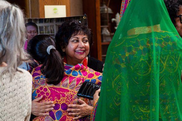 Rashmi Malhotra, mentor, greeting Manizha Wafiq