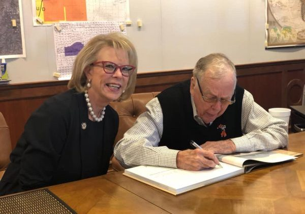 Dr. Terry Neese with Mr. T. Boone Pickens